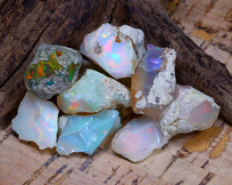 Welo Rough 48.16Ct Natural Ethiopian Play Of Color Rough Opal D0904