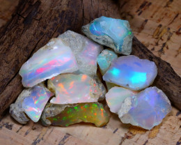 Welo Rough 49.59Ct Natural Ethiopian Play Of Color Rough Opal D0906