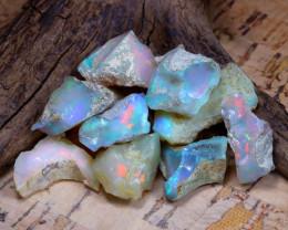 Welo Rough 42.93Ct Natural Ethiopian Play Of Color Rough Opal E0901