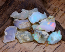 Welo Rough 49.31Ct Natural Ethiopian Play Of Color Rough Opal E0902