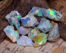Welo Rough 50.55Ct Natural Ethiopian Play Of Color Rough Opal E0903
