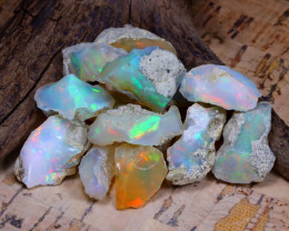 Welo Rough 49.81Ct Natural Ethiopian Play Of Color Rough Opal E0904