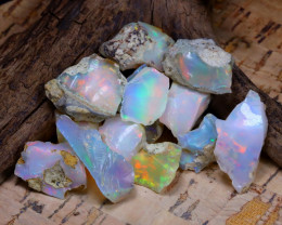 Welo Rough 47.60Ct Natural Ethiopian Play Of Color Rough Opal E0905
