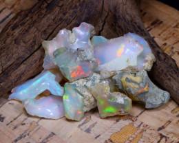 Welo Rough 50.95Ct Natural Ethiopian Play Of Color Rough Opal E0906