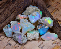 Welo Rough 52.45Ct Natural Ethiopian Play Of Color Rough Opal F0901