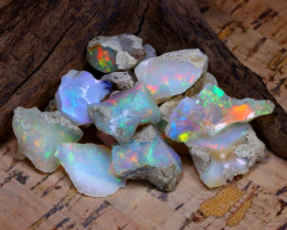 Welo Rough 47.48Ct Natural Ethiopian Play Of Color Rough Opal F0902