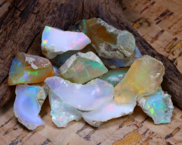 Welo Rough 49.01Ct Natural Ethiopian Play Of Color Rough Opal F0903