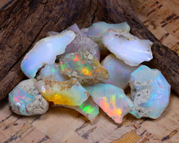 Welo Rough 48.81Ct Natural Ethiopian Play Of Color Rough Opal F0904