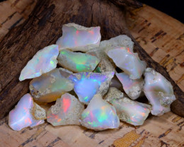 Welo Rough 55.02Ct Natural Ethiopian Play Of Color Rough Opal F0905