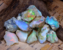 Welo Rough 56.40Ct Natural Ethiopian Play Of Color Rough Opal F0906