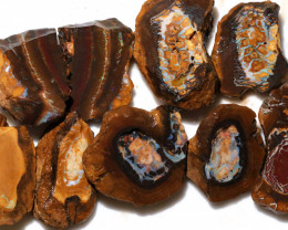 689.50 CTS KORIOT OPAL NUTS PARCEL SLICED OPEN 'FIREY COMET' [PS290]