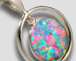 Genuine Australian 14kt White Gold Opal Pendant 8.15ct D58