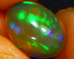 Welo Opal 2.53Ct Natural Ethiopian Play of Color Opal JF1518/A3