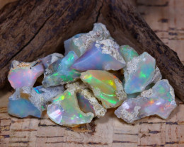 Welo Rough 51.08Ct Natural Ethiopian Play Of Color Rough Opal E1107