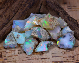 Welo Rough 46.57Ct Natural Ethiopian Play Of Color Rough Opal E1108