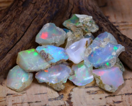 Welo Rough 45.02Ct Natural Ethiopian Play Of Color Rough Opal E1109