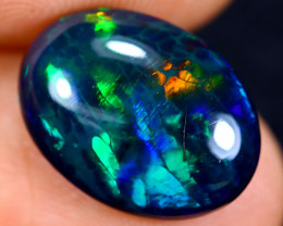 3.50cts Natural Ethiopian Welo Smoked Opal / HM1052
