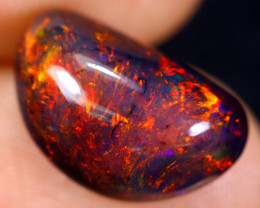 3.92cts Natural Ethiopian Welo Smoked Opal / HM1053