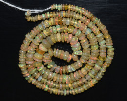 30.40 Ct Natural Ethiopian Welo Opal Beads Play Of Color OB33