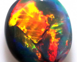 1.59 CTS BLACK OPAL STONE PENDENT -FROM LIGHTNING RIDGE - [LRO1489]