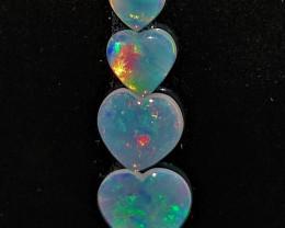 1.40 cts Opala sólida forma coração