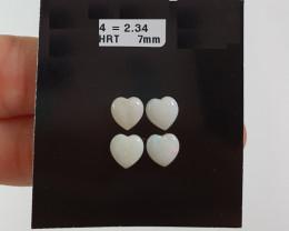 2.34  cts Opala sólida forma coração