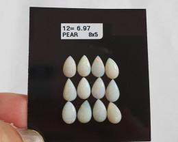 6.97 cts Opala sólida forma gota