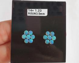 1.23 cts Opala sólida forma redonda