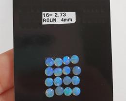 2.73 cts Opala sólida forma redonda