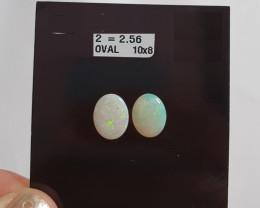 2.56 cts Opala sólida forma oval
