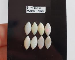 5.13 cts Opala sólida forma navete