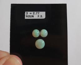 2.77 cts Opala sólida forma redonda