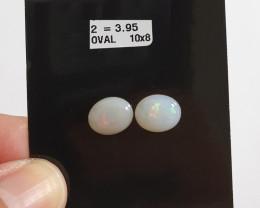 3.95 cts Opala sólida forma oval