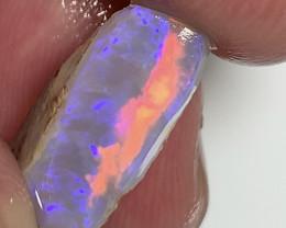 Amazing Orange Colour Bar- 7.2 CTs Bar Checked Gem Seam Rub Opal#1720
