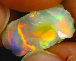 6.45Ct Multi Color Play Ethiopian Welo Opal Rough H1808/R2