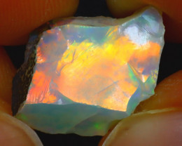 6.80Ct Multi Color Play Ethiopian Welo Opal Rough HF1814/R2