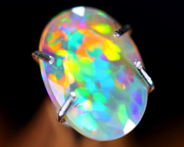 0.64cts Natural Ethiopian Faceted Welo Opal / NY23