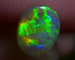 Very bright Rainbow fire!! Lighting Ridge Solid black Opal