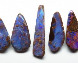 26.27ct Australian Boulder Opal 5 Stone Parcel
