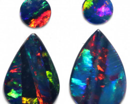 2.19 CTS DOUBLET OPAL PAIRS [SEDA7699]2
