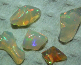 11.55 ct Ethiopian Gem Color Free form Opal Parcel