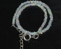 9.15 CT OPAL BRACELET MADE OF NATURAL ETHIOPIAN BEADS STERLING SILVER OBB17