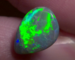 2.16ct Lighting Ridge Solid Black Opal Muitiple Gem colors