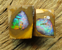 7.7cts, QUALITY GEMMY FLASH BOULDER OPAL~ROUGH RUB.
