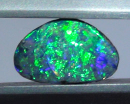 0.85 ct $1 NR Gem Blue Green Color Queensland Boulder Opal Ring Stone