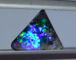 1.25 ct $1 NR Gem Multi Color Boulder Opal ring Stone