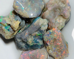 Bright Multicolour Beautiful Rough Nobby Opals to Cut & Carve
