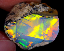 12cts Natural Ethiopian Welo Rough Opal / NY79