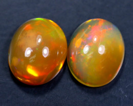 4.36cts Natural Ethiopian Welo Opal Pairs / BF4125