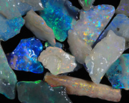#4-NO RESERVE!!! Very Thin Mosaic/Inlay Opal  [29444] 53FROGS